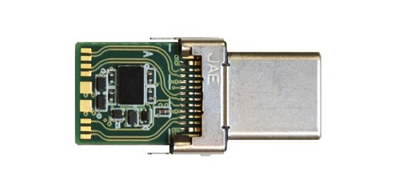 Figure 3 - The CCG2 controller from Cypress Semiconductor integrated into a USB Type-C connector shell.