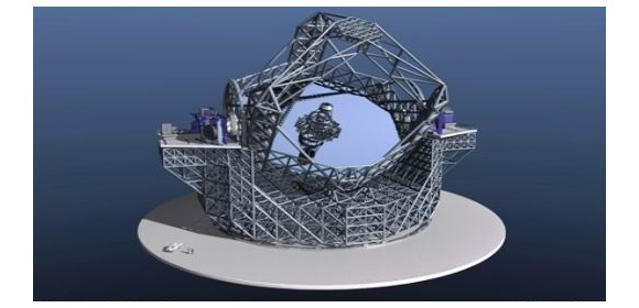 Figure 1: Artist rendering of the European Extremely Large Telescope (E-ELT)