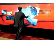 The multi-touch technology, developed jointly in Sweden by Mitsubishi Electric and i3 Sense, uses laser sensors instead of the more usual infra-red (IR) detectors or capacitive touch overlays