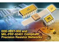 Hermetically sealed precision resistor networks with screen/test flow are compliant with EEE-INST-002 and MIL-PRF-83401