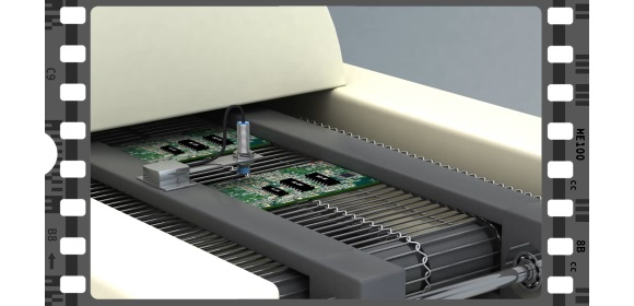Inductive PCB conveyor image - Video clip