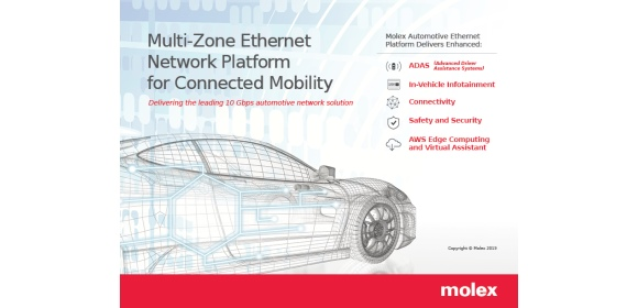 Molex connected mobility multi-zone ethernet network platform