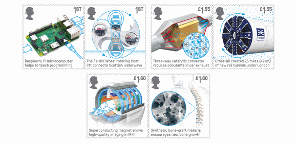 Royal Mail Stamps-British Engineering