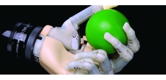 RAE Touch Bionics hand with green ball