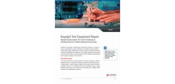 Keysight Test Equipment Report