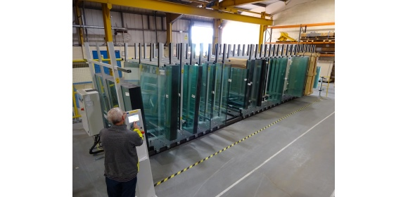 Glass Handling Storage at Zytronic Newcastle site