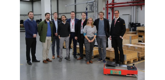 Project team LiONS - Looking back with satisfaction on three years of research: the project team with representatives from OSRAM, KEB, Götting and Fraunhofer IEM (Photo: Fraunhofer IEM).