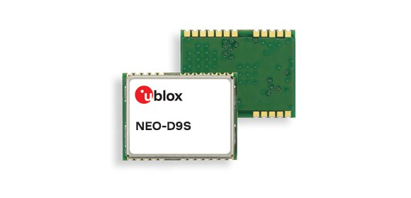 u-blox NEO-D9S GNSS correction data receiver module_580x280