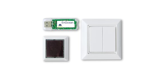 EnOcean-EISKA-European IoT Starter Kit content (USB Receiver, Sensor, Light Switch & Software)_580x280