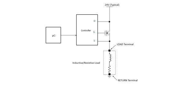 Figure 2. Simplified high-side switch arrangement