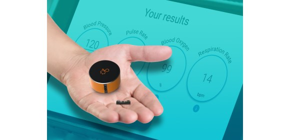 LMD V-Sensor Minshi keyfob with clinically-accurate vital signs measurements