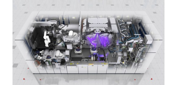 Example of ASML's technology (EUV lithography system, NXE_3400B, wafer stage, alignment sensor) [Credit ASML]_580x280