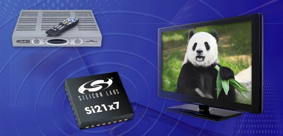 Silicon Labs introduced a new family of silicon TV tuners that supports all worldwide terrestrial and cable TV standards.